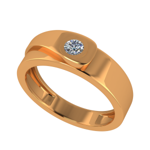 The Inviting Solitaire Gold Diamond Ring