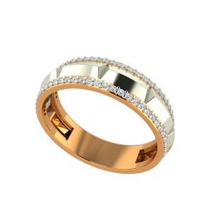 The Wild Glaze Gold Diamond Mens Ring