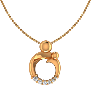 The First Step Gold Diamond Pendant
