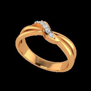 The Golden Fold Gold Diamond Ring