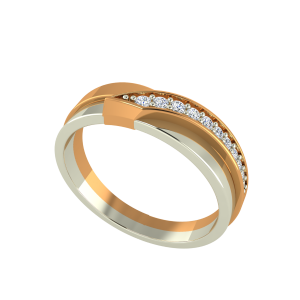 The Golden Tones Gold Diamond Ring