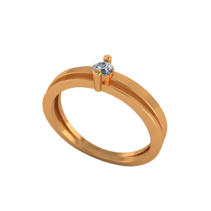 The Solitaire Fling Gold Diamond Ring