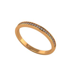 The Half Eternity Sleek Gold Diamond Ring