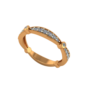The Glitter Band Gold Diamond Ring