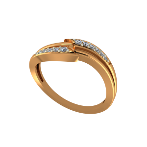 The Love Mania Gold Diamond Ring