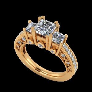 The Cushy Cushions Gold Diamond Ring