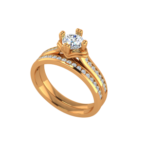 The Dream Solitaire Gold Diamond Solitaire Ring