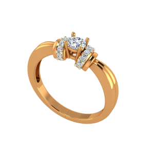 The Solitaire Treats Gold Diamond Solitaire Ring
