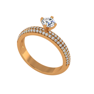 The Solitaire Garden Gold Diamond Solitaire Ring
