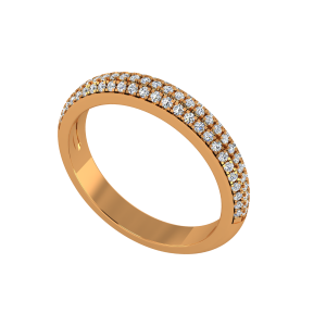 The Half Eternity Glitter Gold Diamond Ring