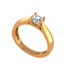 Simply Solitaire Gold Diamond Solitaire Ring