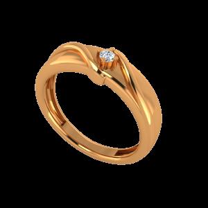 The Glitter Pop Gold Diamond Men's Ring