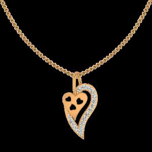 Sway My Heart Gold Diamond Heart Pendant