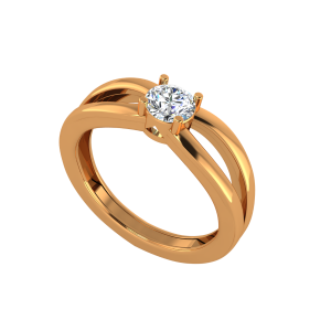 The Pop Posh Gold Diamond Solitaire Ring