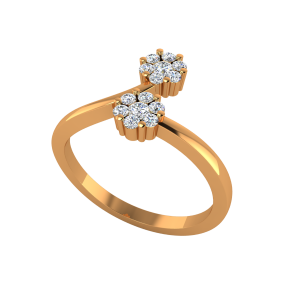 The Floral Cluster Gold Diamond Ring