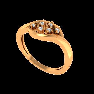 The Diamond Buds Gold Diamond Ring