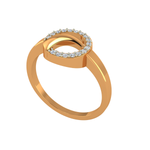 The Diamond Roundabout Gold Diamond Ring