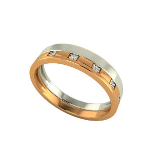 The Elegant Couple Gold Diamond Ring For Him