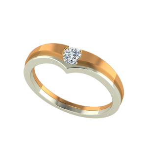 Fall In Love Couple Gold Diamond Ring For Him