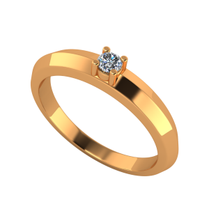 Solitaire Suave Gold Diamond Ring