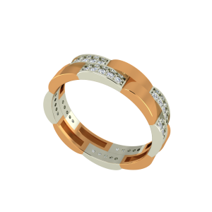The Fire Flow Gold Diamond Ring