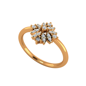 The Floral Glance Gold Diamond Ring