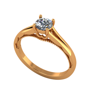 The Solitaire Gallery Gold Diamond Ring