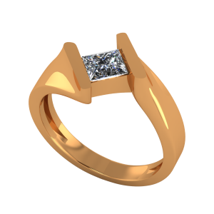 The Slinky Solitaire Gold Diamond Ring