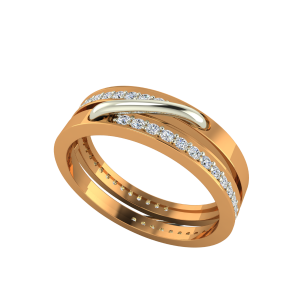The Electric Pick Gold Diamond Ring