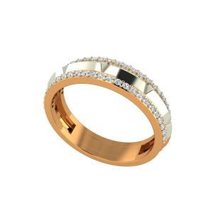 The Skyline Couple Gold Diamond Ring