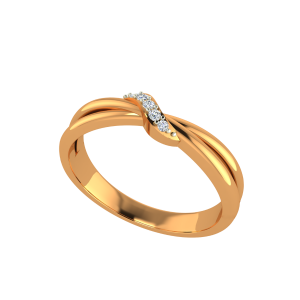The Twinkle Gold Diamond Ring