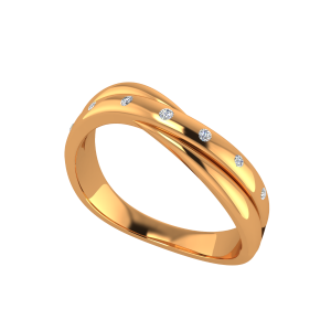 The Melting Gold Diamond Ring