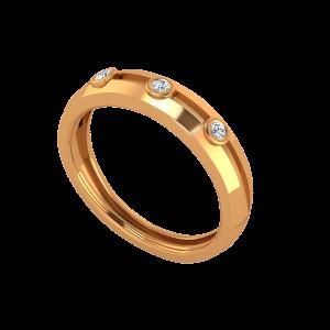 Maverick Dots Gold Diamond Ring