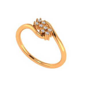 Floral N Fine Gold Diamond Ring