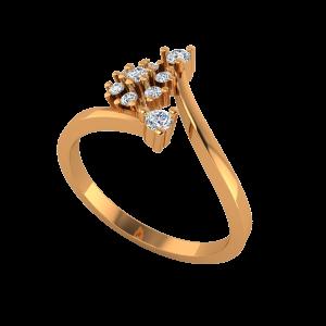 The Spark Drama Gold Diamond Ring