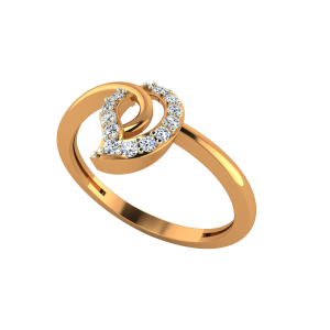 Paisley Revived Gold Diamond Ring