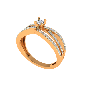 The Solitaire Glory Gold Diamond Solitaire Ring