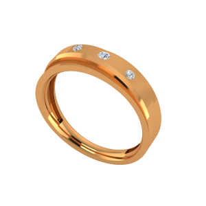 Lovely Dots Gold Diamond Ring