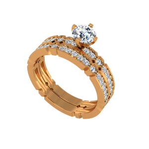 The Miracle Solitaire Gold Diamond Solitaire Ring