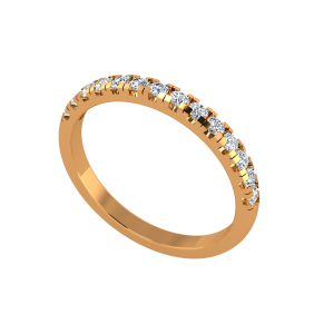 The Half Eternity Band Gold Diamond Ring