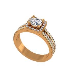 The Art Of Solitaire Gold Diamond Solitaire Ring