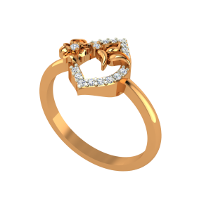 The Natures Club Gold Diamond Ring
