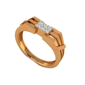 The Golden Merger Gold Diamond Men's Ring