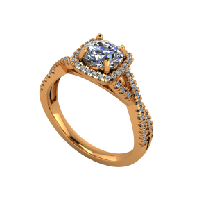 The Stately Solitaire Gold Diamond Solitaire Ring