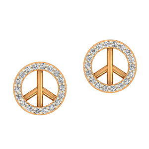 The Peace Gold Diamond Kids Earring