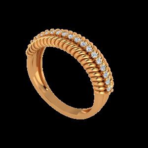 The Mood Swings Gold Diamond Ring