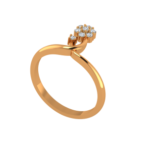 The Flower In Spring Gold Diamond Ring