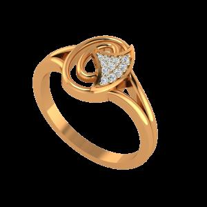 Playful O Gold Diamond Ring