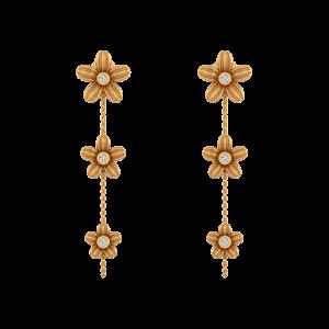 Flower Shower Diamond Dangle Earrings