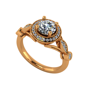The Awe Inspiring Gold Diamond Solitaire Ring